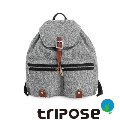 tripose 岩紋系列岩紋潮感機能後背包  黑