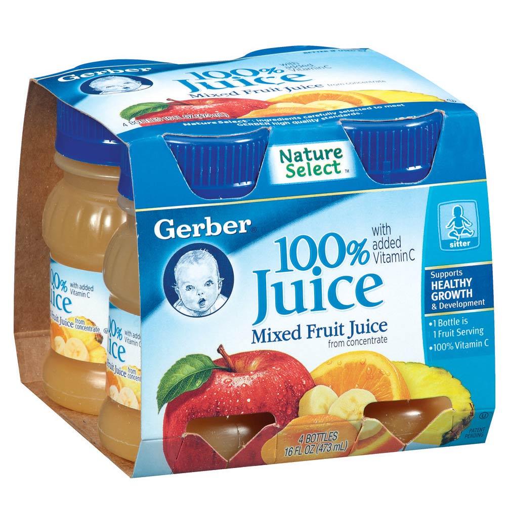 嘉寶Gerber 綜合果汁(118mlx4瓶)
