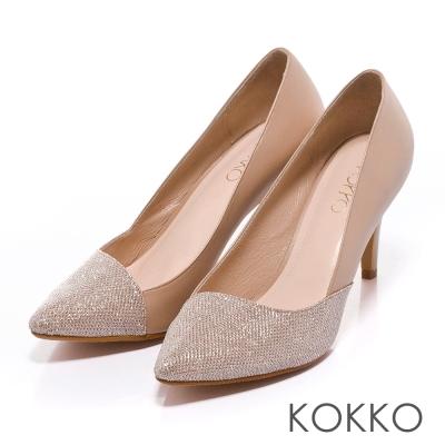 KOKKO經典再現 - 時髦尖頭斜切高跟鞋 - 奢華金