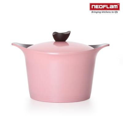 韓國NEOFLAM Aeni系列 26cm陶瓷不沾深湯鍋+陶瓷塗層鍋蓋