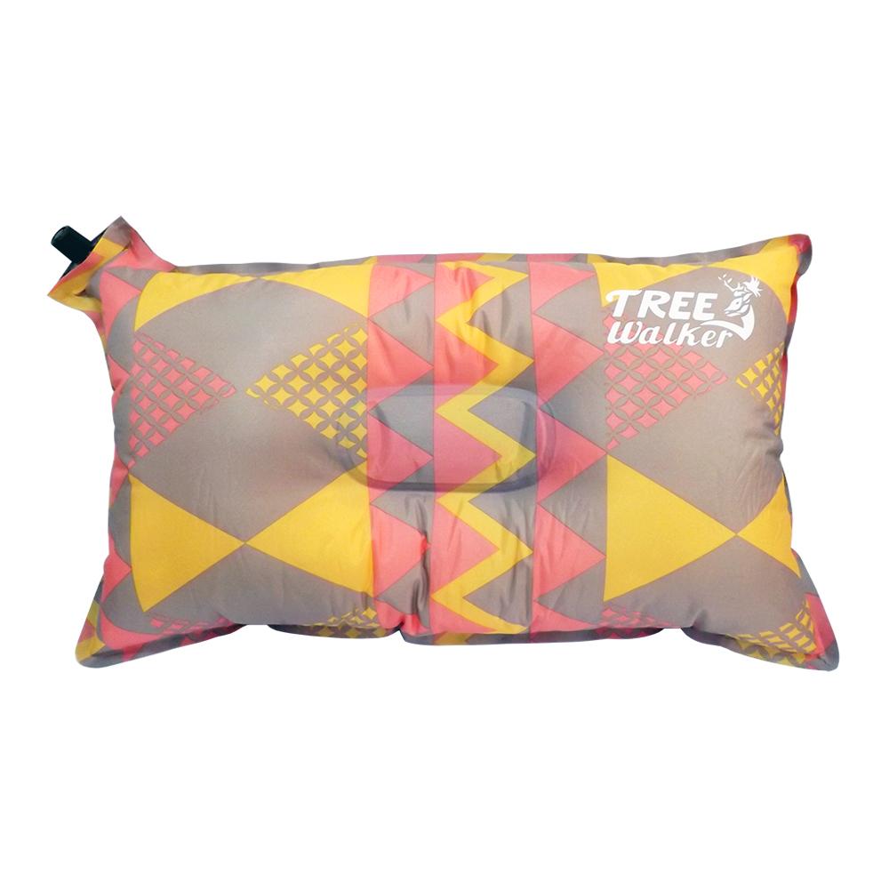 Tree Walker 花漾舒適自動充氣枕 菱紋粉