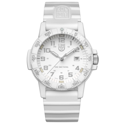 LUMINOX 雷明時SEA TURTLE 0320海龜系列腕錶-純白/44mm