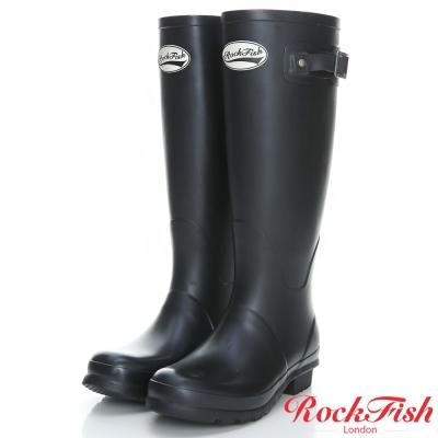 ROCKFISH 質感霧面長筒雨靴 酷色系列 時尚黑