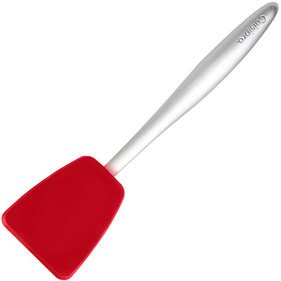 CUISIPRO Piccolo鋼柄矽膠小鍋鏟(紅20cm)