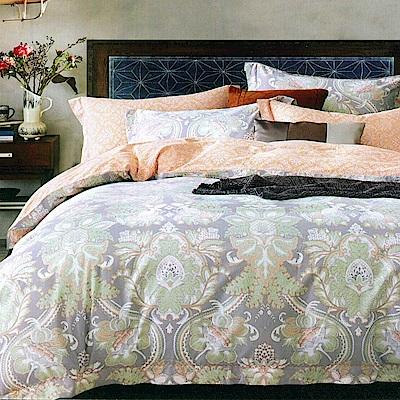 La lune 100%60支紗萊賽爾天絲300織雙人加大兩用被床包四件組 維多利亞