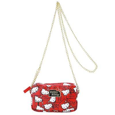 《Sanrio》HELLO KITTY紅蘋果信箋系列隨身斜背包