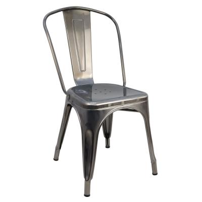 -Design- 法國Tolix工業風複刻版復古高背鐵椅/招待椅/餐椅