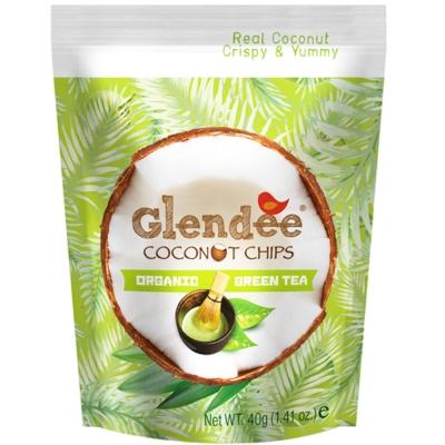 Glendee椰子脆片-綠茶40g