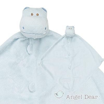 美國 Angel Dear 動物嬰兒安撫巾 (藍色河馬)