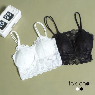 東京著衣 優雅蕾絲寬版小可愛 共二色