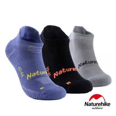 Naturehike 男款 G3快乾排汗踝襪短襪 <b>3</b>色組