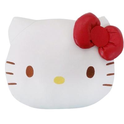 HELLO KITTY 經典皮革系列-頭型抱枕