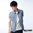 【BIG TRAIN】基本款紅藍格紋短袖襯衫