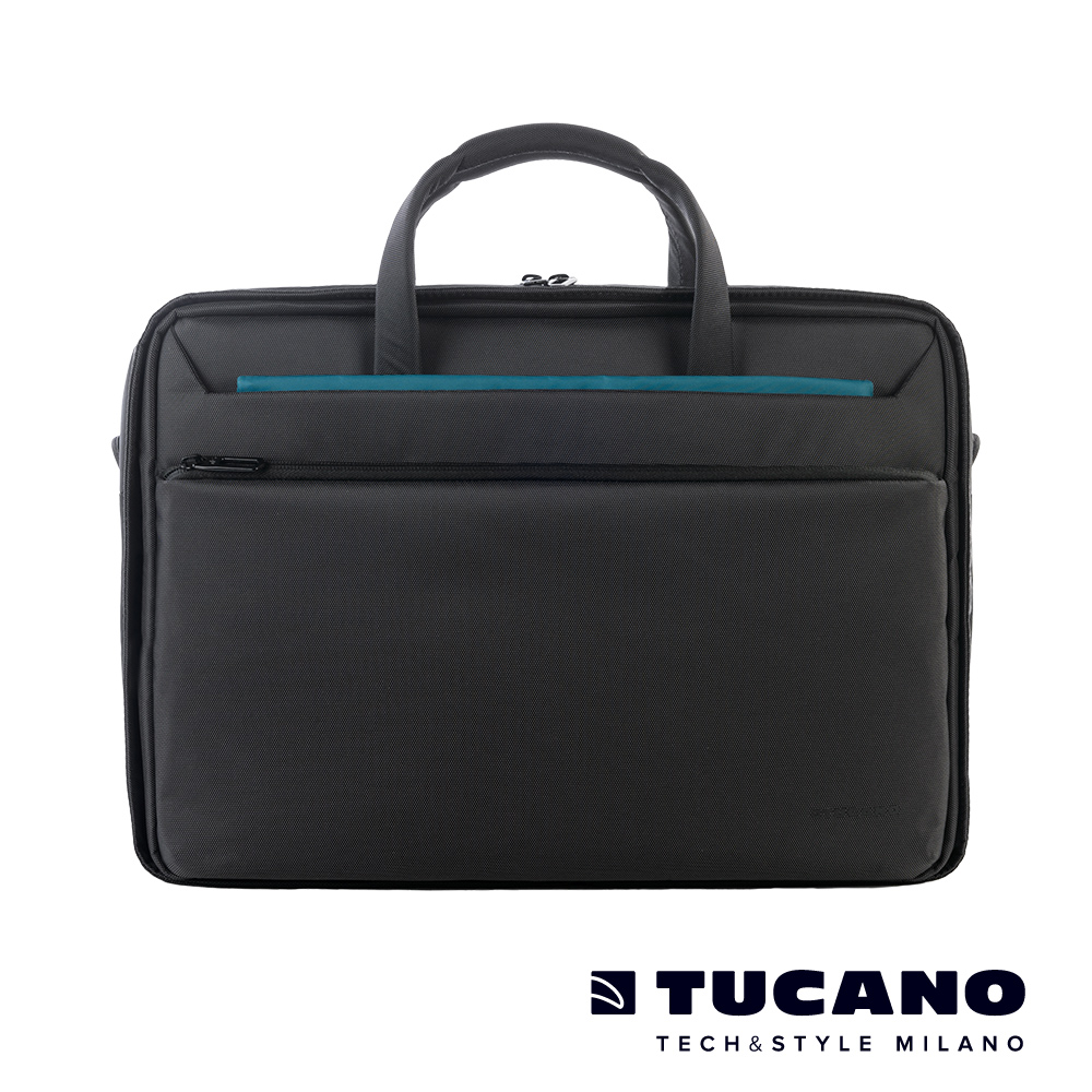 TUCANO WORK_OUT III 高容量側背包15吋(適用16吋) 黑