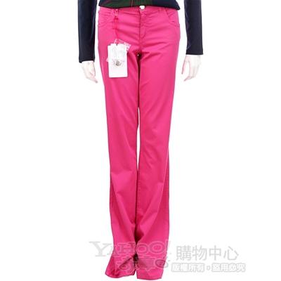 BLUGIRL 桃紅色直筒款休閒長褲