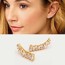 GORJANA 公主切割 方鑽耳環 貼合耳廓耳環 不規則拼接 Amara Climbers