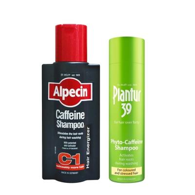 Alpecin咖啡因 洗髮露+Plantur39 植物與咖啡因洗髮露-染燙及受損髮質