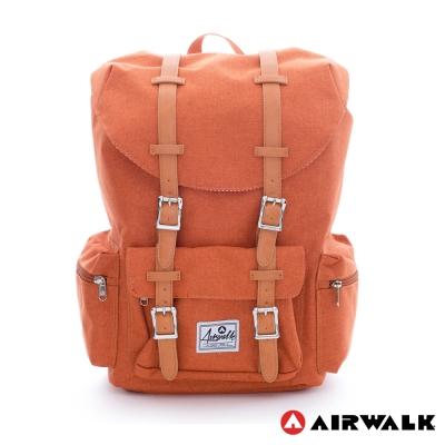 AIRWALK-學院風-抽繩束口袋-筆電後背包-小-三色
