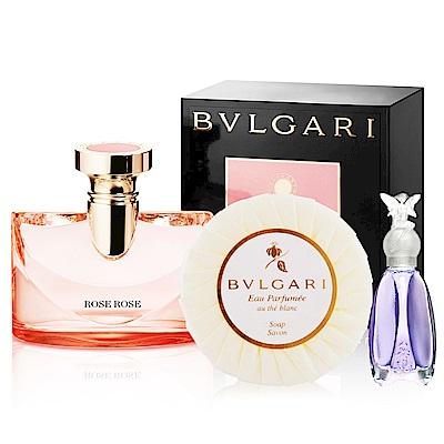 BVLGARI寶格麗 浪漫玫香女性淡香精100ml贈白茶皂&隨機小香各1入
