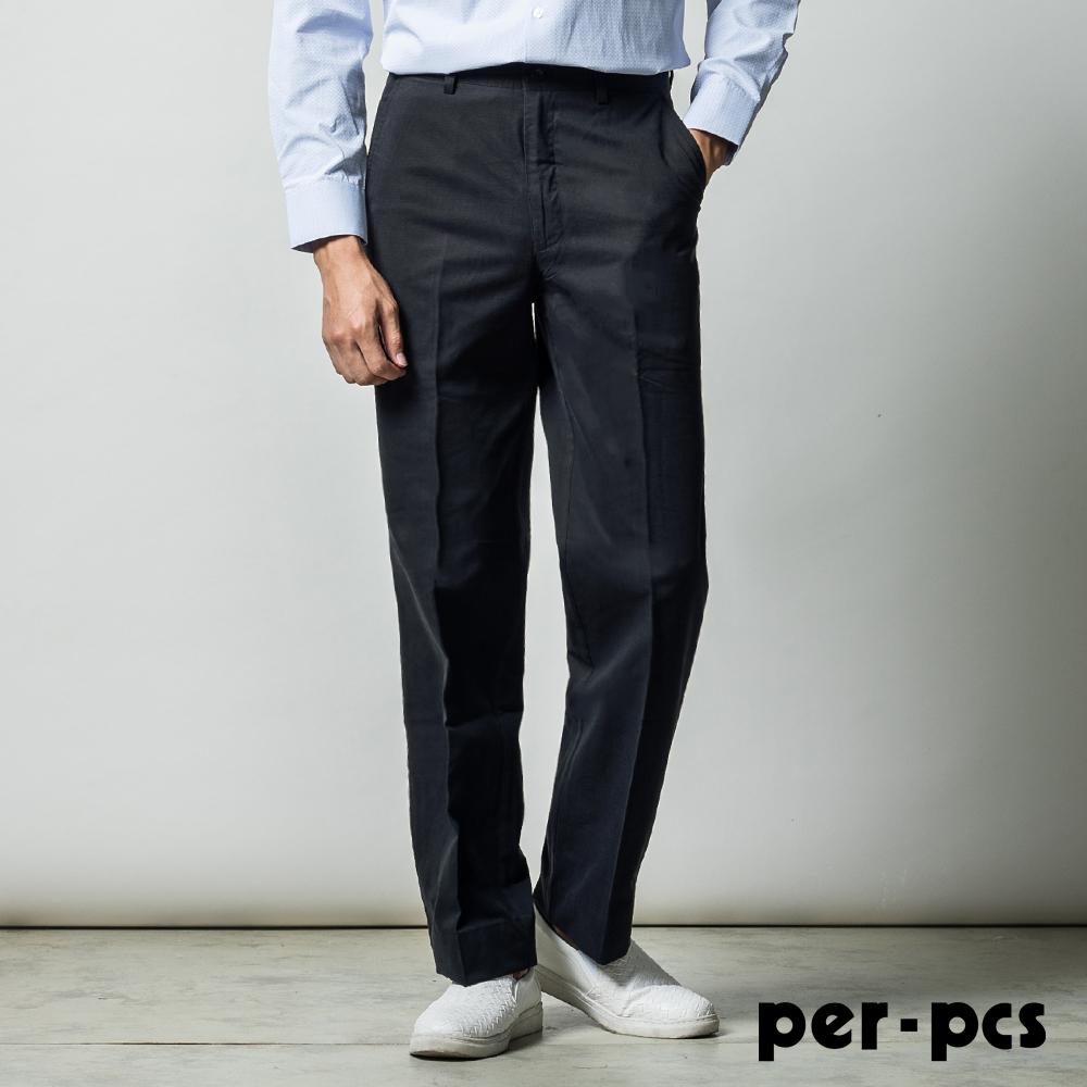 per-pcs 經典品味100%棉平面休閒褲_黑色(713151)