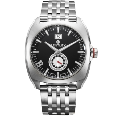 BENTLEY 賓利 Solstice系列 黑暗紳士手錶-黑x銀/ 45 mm
