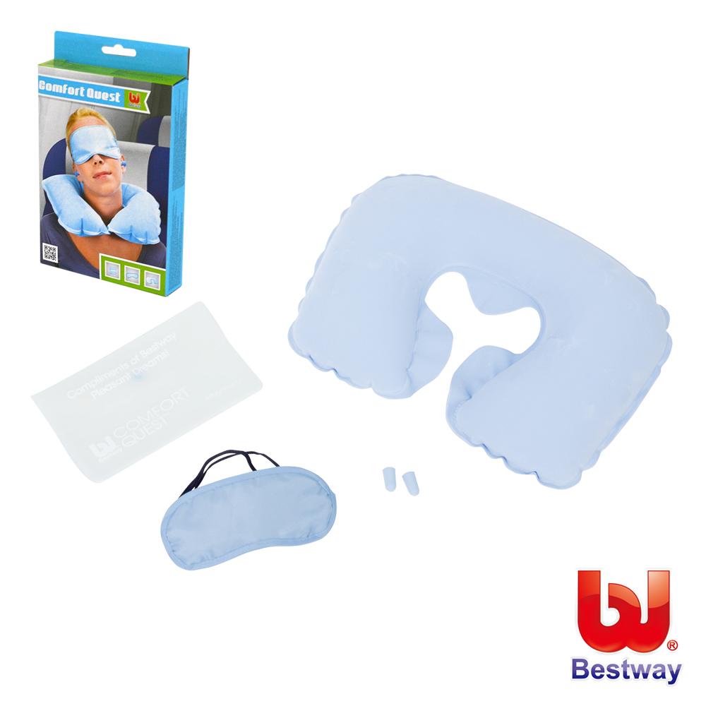 《凡太奇》Bestway。充氣旅行組(充氣枕、眼罩、耳塞) 67445 - 快速到貨