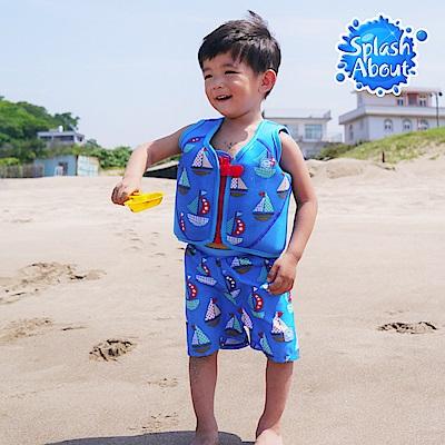 Splash About 潑寶 嬰兒抗UV海灘尿布褲 - 普普風帆船