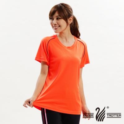 【遊遍天下】台灣製中性款輕量吸濕排汗機能圓領衫S0707桔色