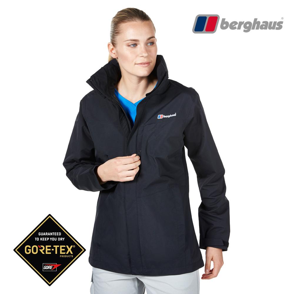 【Berghaus貝豪斯】女款GT防水透氣連帽外套H22FS7黑