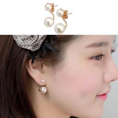 梨花HaNA 韓國925銀那年冬天風在吹宋慧喬雙珍珠耳環銀色