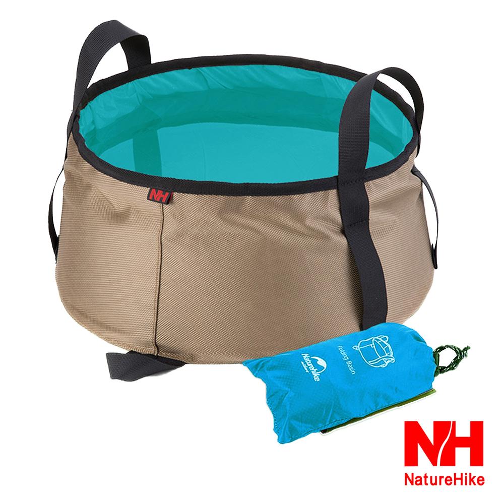 NH 輕量耐磨折疊洗臉盆 儲水盆 水桶 10L 附收納袋 湖藍色-快速到貨