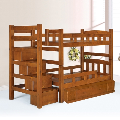 Bernice-喬傑大容量抽屜雙層床架