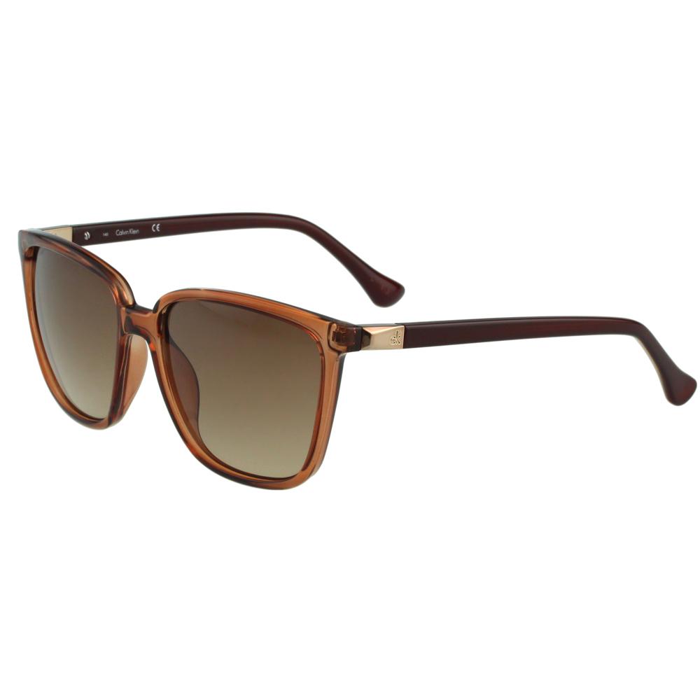 Calvin Klein- 時尚太陽眼鏡(透明咖啡)