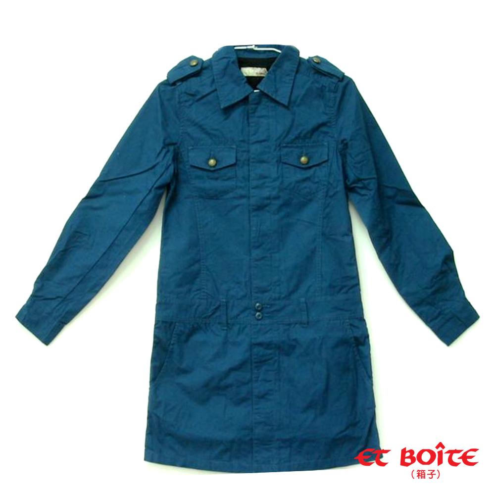 ETBOITE 箱子 BLUE WAY 率性長版襯衫式連身洋裝-2色 product image 1