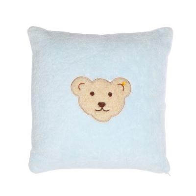 STEIFF德國金耳釦泰迪熊 - 嬰幼兒 枕頭 靠枕 水藍色 40x40cm