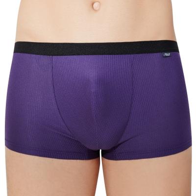 SOLIS 鋅能量系列M-XXL素面貼身四角男褲(深紫色)