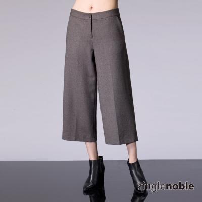 獨身貴族-英倫貴族毛呢花紋七分寬褲-2色
