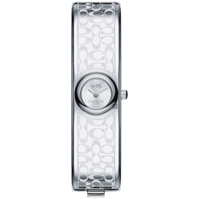 COACH Scout 經典C字時尚手環錶(14502608)-銀/16mm