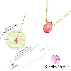 Dogeared 櫻桃水晶金項鍊Cherry Quartz Healing Gem附原廠禮盒