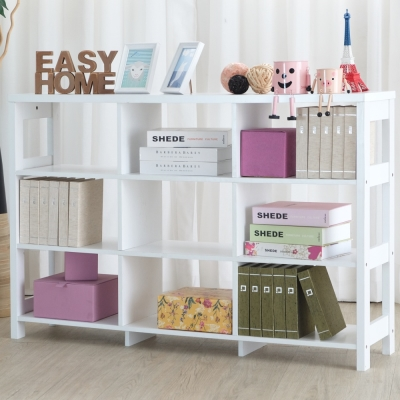 EASY HOME 三層九格隔間展示收納櫃(120x29.6x80cm)-DIY