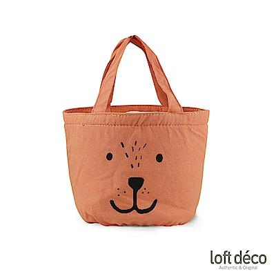 Loft Deco | Orange bear | 束口保溫萬用袋