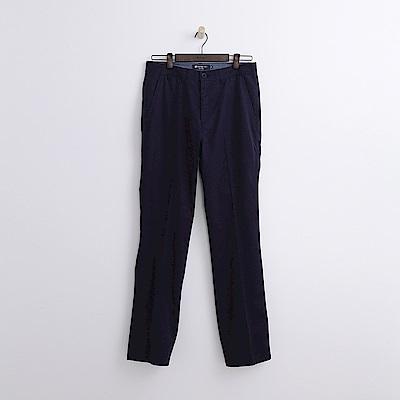 Hang Ten - 男裝 - 純色抗皺長褲-深藍色