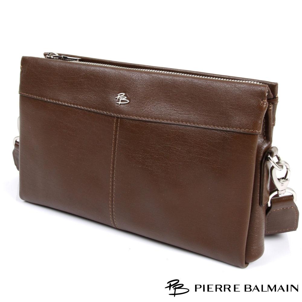 PB皮爾帕門-Cross Bag頭層牛皮橫式造型側包(可手提)