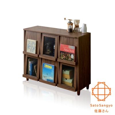 Sato_NEFLAS時間旅人六門收納書櫃 W111*D39.5*H92 CM