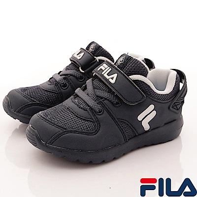 FILA頂級童鞋 後港寶穩定基本款 FO53S-001 黑 (小童段)