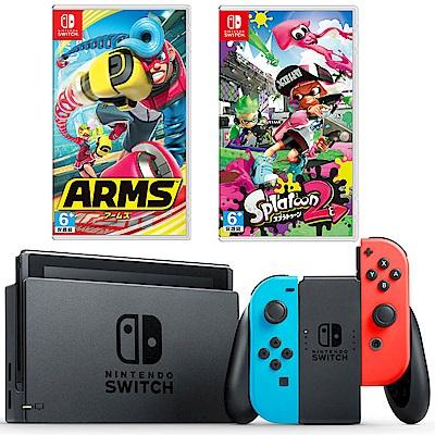任天堂Nintendo Switch-電光藍/紅 Joy-Con 對戰超值組