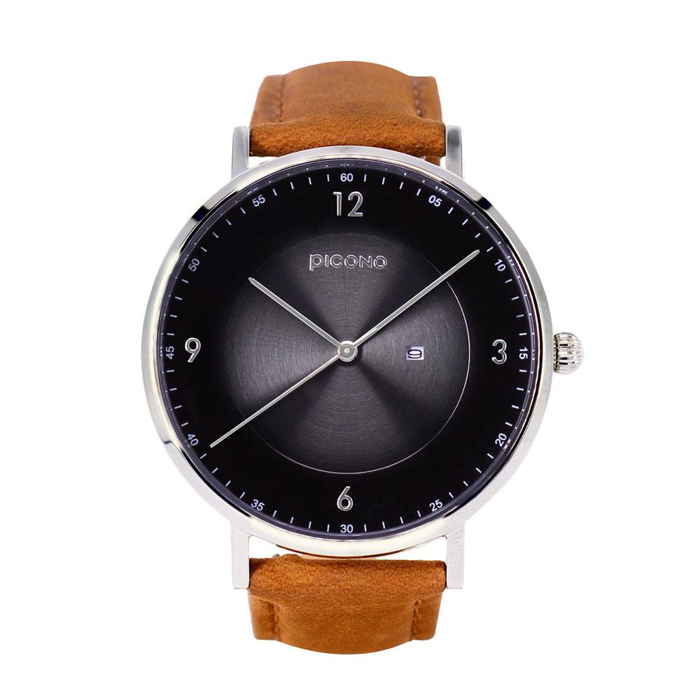 PICONO VINYL系列 輕薄真皮錶帶手錶(VL-6603)