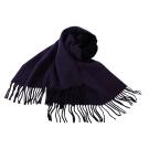 agnes b. 小b.系列流蘇圍巾披肩-黑/紫