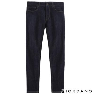 GIORDANO男裝低腰摩登窄管牛仔褲-50原藍