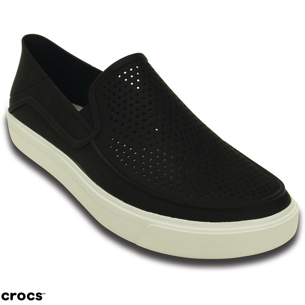 Crocs卡駱馳(男) 都會街頭洛卡便鞋-202363-066